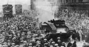 Tanks in George Square in 1919