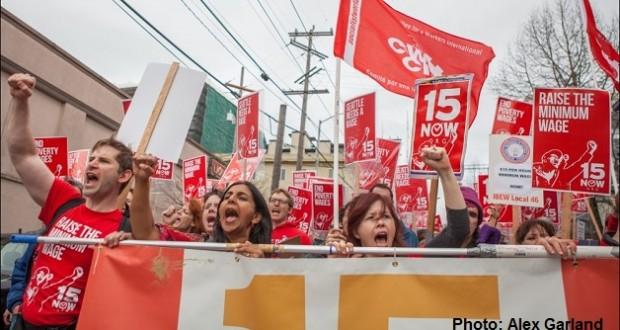 Socialist Alternative marching in Seattle