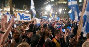 George Square, Glasgow following the referendum result last year