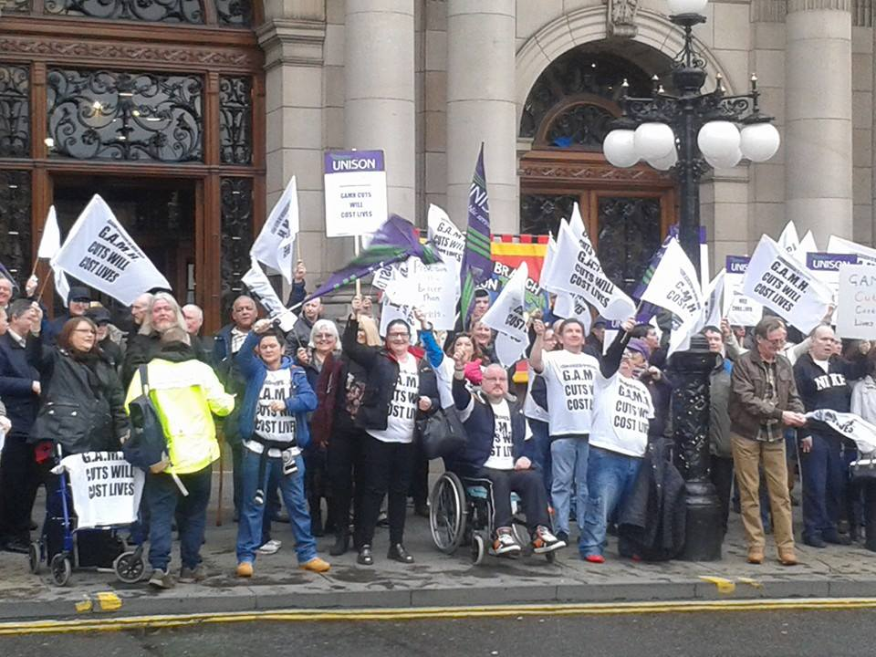 Hundreds Protest At Funding Cuts To Glasgow Mental Health