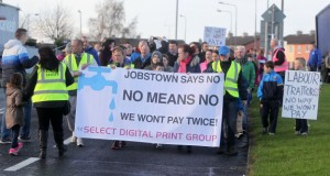 March against water charges in Jobstown, Dubln
