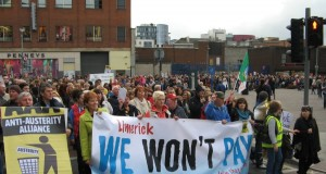 Water Charges protest in Limerick
