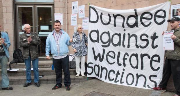 Dundee Against Welfare Sanctions protest