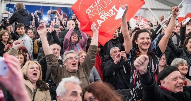 Celebrations as Syriza win the general election in Greece