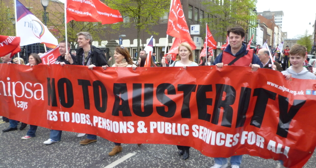 Trade unionists in Northern Ireland are striking on Friday