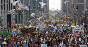 Climate change march in New York
