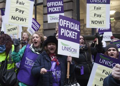 Glasgow Unison caseworkers were on strike for 17 weeks earlier this year.