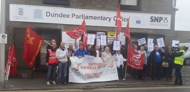 Dundee porters demanding answers from the Scottish health minister today
