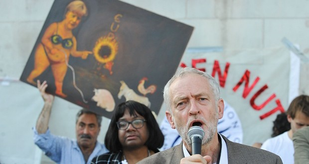 Left Labour leadership candidate, Jeremy Corbyn