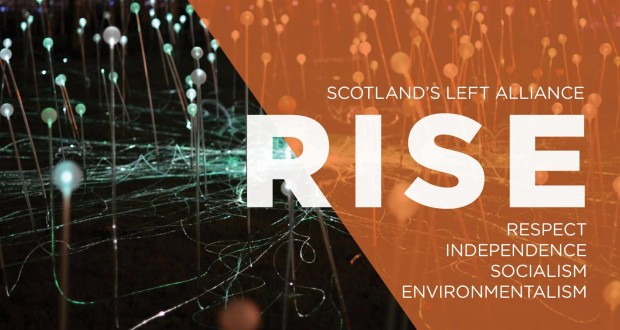 RISE - Scotland's Left Alliance was launched on Saturday