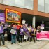 CCTV workers picket line and TUSC supporters showing solidarity. Picture Duncan Brown