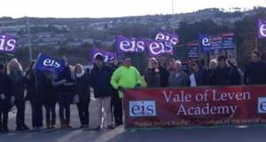 Vale of Leven School picket line