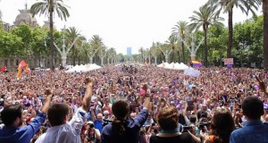 Unidos Podemos election rally in Barcelona