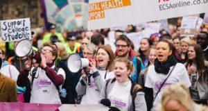 Student protest at the Scottish parliament. Photo: NUS Scotland