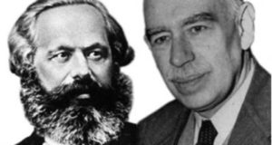 Karl Marx (left) fought for a socialist society to replace capitalism. John Maynard Keynes (right) put forward policies to try and save capitalism from its own internal contradictions.